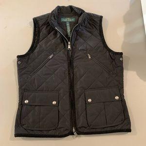 Ralph Lauren Black Vest XS